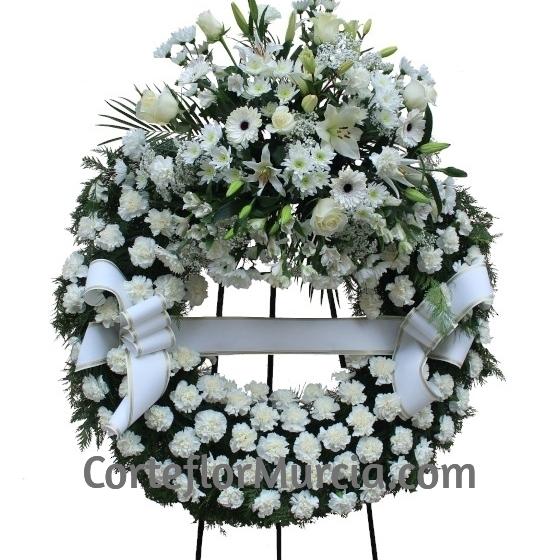 Corona Funeraria Blanca