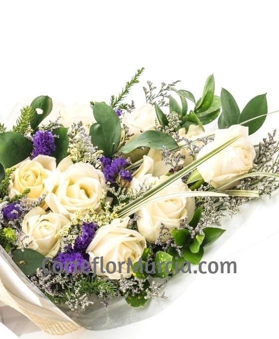 Ramo Funerario Rosas Blancas